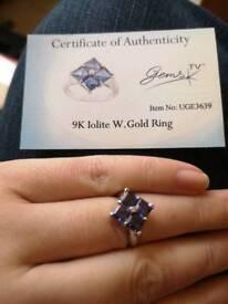 Iolite White Gold Ring
