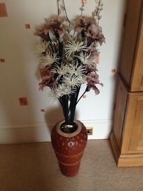 Decorative vase and flowers