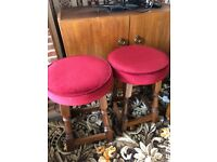 2 Matching Wooden Stools