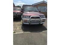 ssangyong musso automatic
