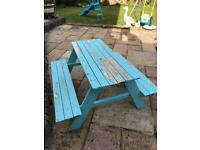 IKEA 'Reso' kids picnic table / bench - needs re-painting