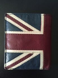 Leather Red Herring Union Jack Wallet