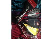 Various Squash Rackets