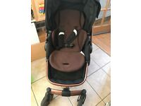HAUCK TWISTER TRIOSET BABY PUSHCHAIR 3 IN 1 CAR SEAT CARRYCOT TRAVEL KIT BUNDLE