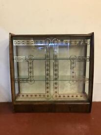 Vintage deco two door drinks cabinet.