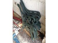 Two Pairs of Antique Cast Iron Bench Ends