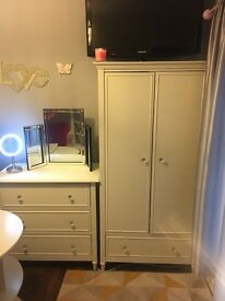 Wardrobe and 3 draw chest