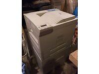 HP LaserJet 8150 series printer with HP Compaq DC7700 PC, Compaq TFT 8030 monitor and keyboard