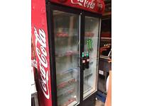 Coca Cola large double fronted fridge