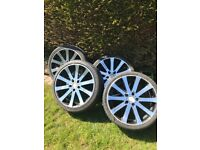 """19""""low profile alloy wheels with tyres ( require refurb)"""