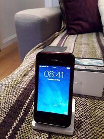 Apple iphone 4 32gb, Black, unlocked, damaged screen