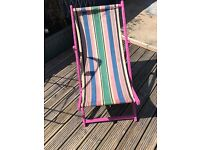 Up cycled and Blinged Girly Vintage Deck Chair