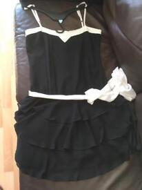 Ladies dress black/cream