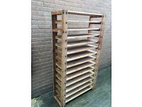 Wine Rack Ikea Sturdy Wooden Construction