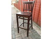 2 Solid wood bar stools / chairs