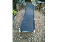 Comfortable and folding deckchair