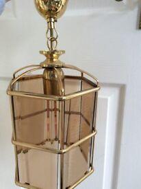 Electric Glass pendant lantern light