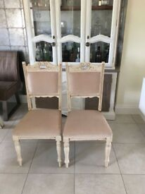 Beautiful vintage style chairs.
