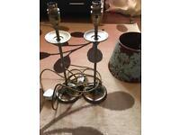 Lamps iron bronze