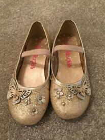 Sparkle Club Gold Ballet Shoes Girls