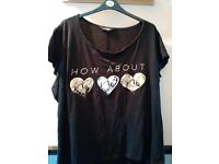LADIES YOURS love heart t-shirt