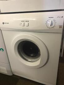 7KG VENTED WHITE KNIGHT DRYER WITH GENUINE GUARANTEE