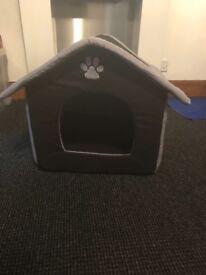 Black & Grey soft dog house pet toy Small to Medium size dog