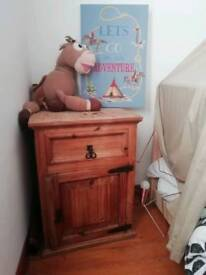 Mexican pine bedside or side table