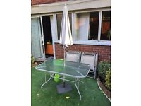 Garden table with chairs £25