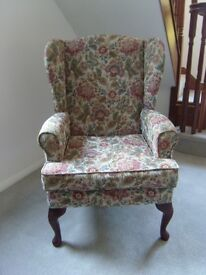 HSL Comfort Chair floral tapestry fabric - Buckingham pattern.