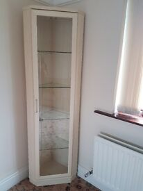 Corner Wall Unit With Glass Door