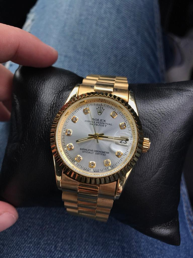 Rolex Gold Datejust Automatic Sweeping Watch