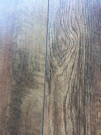 Dark oak style laminate flooring