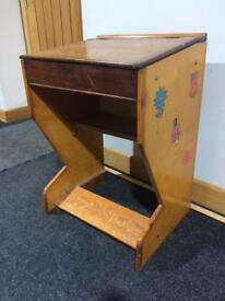 Vintage children's desk with Mr Men stickers