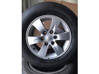Set of four Mitsubishi L200 alloys tyres 17