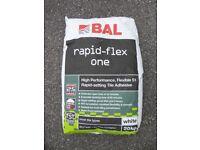 Tile Adhesive - BAL Rapid-Flex One - 20kg bag (white)