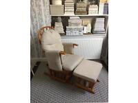 Recliner / Nursing Chair for New Mums with matching footstool