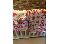 Beautiful bright lined pair of Next curtains, ideal for children's bedroom, excellent condition
