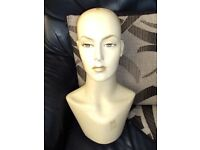 vintage mannequin womens head and shoulders fashion art piece
