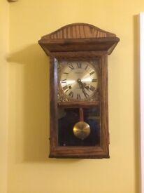 Chiming wall clock dark oak
