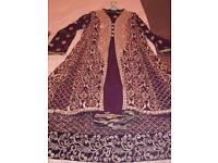 Purple and gold elegant new design Asian Ethnic wedding party special occasion wear