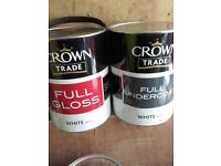 crown trade gloss and undercoat.