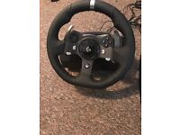 Logitech driving force G920 Xbox one steering wheel