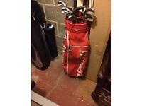 Large red Spalding bag.