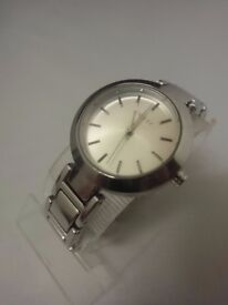 Ladies-DKNY-Stanhope-Designer-NY8831-Pre owned-silver watch