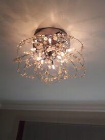 3 ceiling lights excellent condition for sale. Take 8 x 240v/12v G4 halogen capsules e