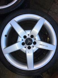 Mercedes clk clc c e class AMG alloy wheels and tyres 18""