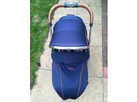 Egg pushchair/stroller - Regal blue.