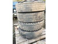4x 215/75r17.5 rear drive tyres 7.5t horse box ,cattle wagon ,flat bed ,tipper