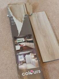 Vinyl Flooring Oak B&Q 3 panels + offcuts